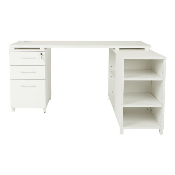 Attirant Prado L Shape Corner Office Workstation With Storage