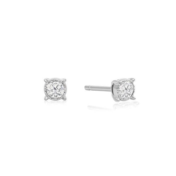 1 10 Carat Tdw Diamond Miracle Stud Earrings In 14 Karat White Gold I J