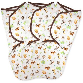 Summer Infant SwaddleMe Graphic Jungle Small Cotton Knit (Pack of 3)