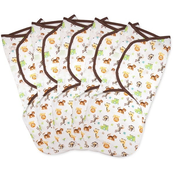 Summer Infant SwaddleMe Graphic Jungle Small Cotton Knit (Pack of 5 ...