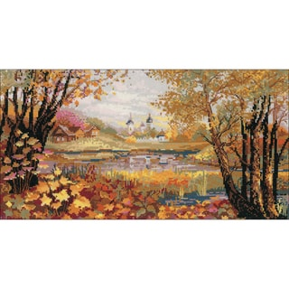 "Autumn Time Counted Cross Stitch Kit-16.25""X9"" 14 Count"