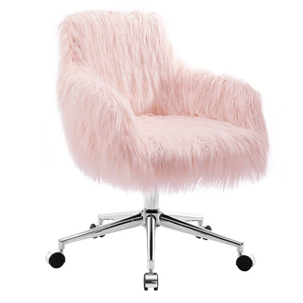 Amber Faux Fur Office Chair Free Shipping Today