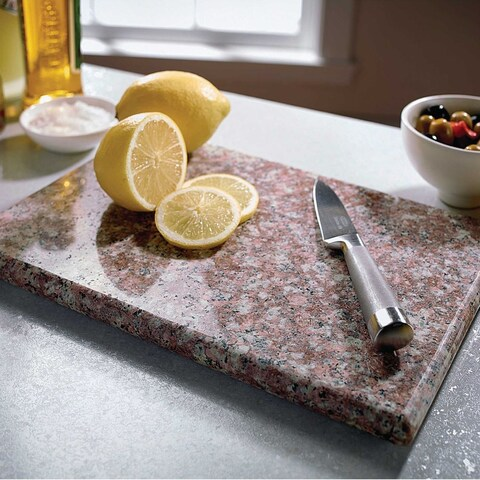 "Sweet Home Collection Granite Cutting Board (8""x12"") Brown"
