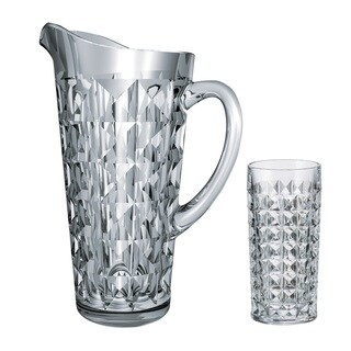 Red Vanilla Diamond Crystal Water Pitcher Set