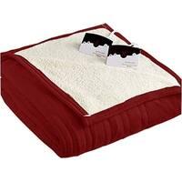 Biddeford 2064-9052140-300 MicroPlush Sherpa Electric Heated Blanket King Brick