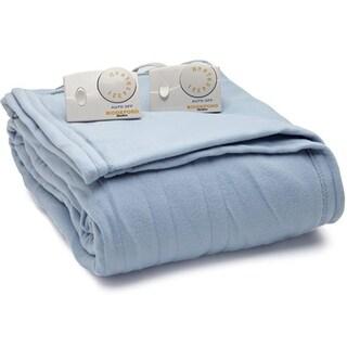 Biddeford Comfort Knit Fleece Electric Heated Blanket King Blue