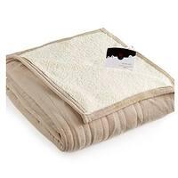 Biddeford 2061-9052140-700 MicroPlush Sherpa Electric Heated Blanket Full Taupe