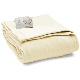 Biddeford Fleece Electric Heated Blanket Twin Natural