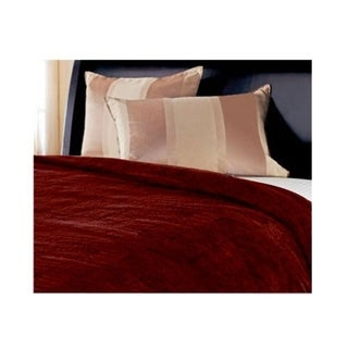 Microplush Electric Blanket Dual Control Heated Twin Full Queen King Size Walnut