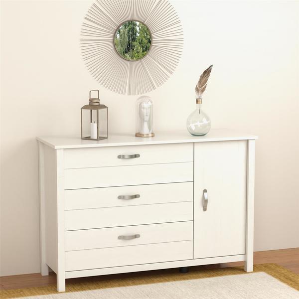 Ameriwood Home River Layne 3 Drawer and 1 Door Dresser