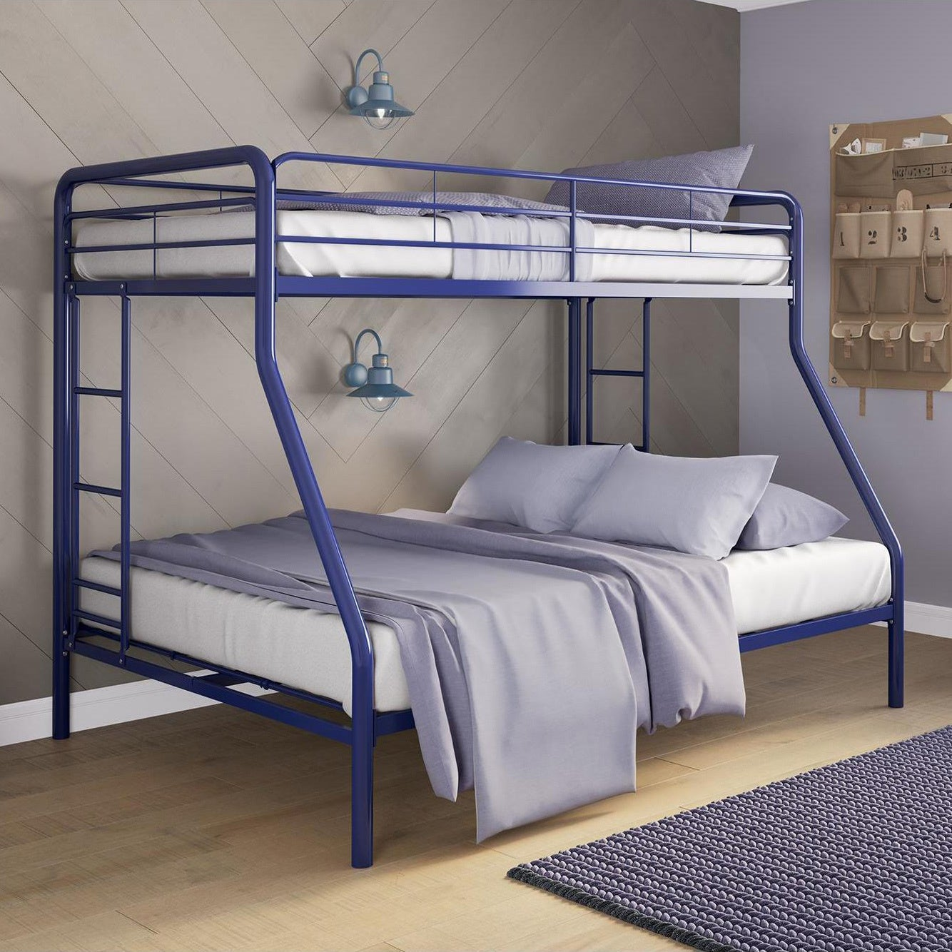 Shop Dhp Metal Twin Over Full Bunk Bed Overstock 17833634 Pink