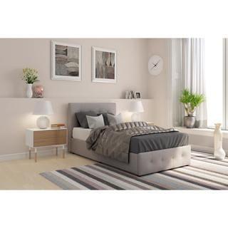 DHP Rose-upholstered Storage Bed