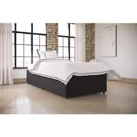 Oliver & James Dianthe Black Faux-leather Storage Platform Bed