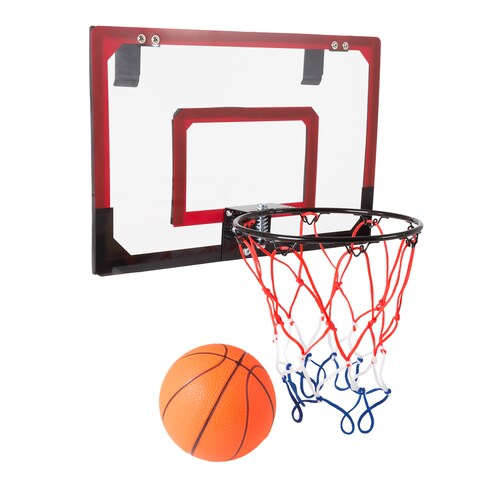 Hey! Play! Mini Basketball Hoop with Ball and Breakaway Spring Rim for Over the Door Play