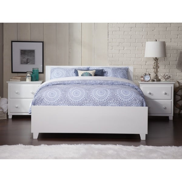 Shop Orlando Queen Bed with Matching Foot Board in White - On Sale ...