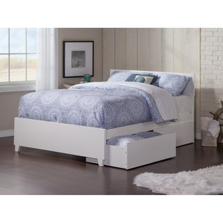 Orlando Queen Bed with Matching Foot Board with 2 Urban Bed Drawers in White  sc 1 st  Overstock.com & Buy Storage Bed Online at Overstock.com | Our Best Bedroom Furniture ...