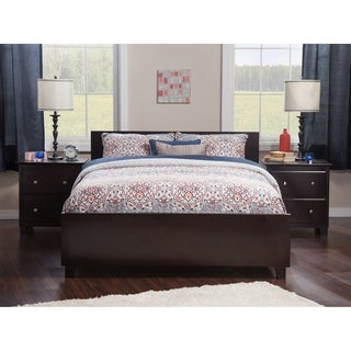 Orlando Queen Bed with Matching Foot Board in Espresso