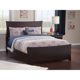 Metro Queen Bed with Matching Foot Board in Espresso