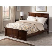 Madison Queen Bed with Matching Foot Board in Walnut