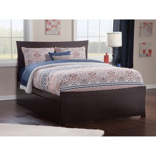 Metro Queen Bed with Matching Foot Board with 2 Urban Bed Drawers in Espresso