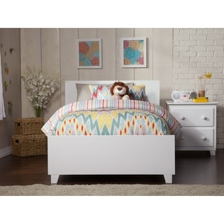 Orlando White Twin Bed and Matching Foot Board