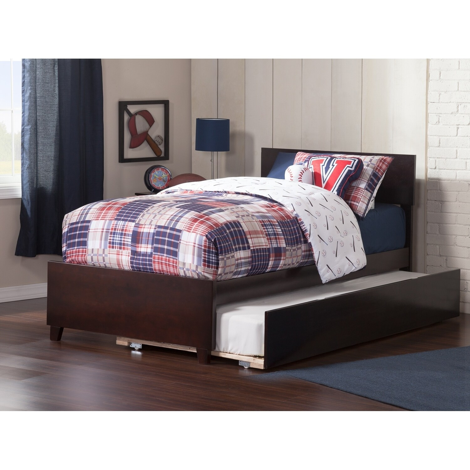 Atlantic Furniture Orlando Twin Bed with Matching Foot Bo...