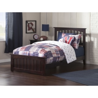 Mission Twin Bed with Matching Foot Board in Espresso