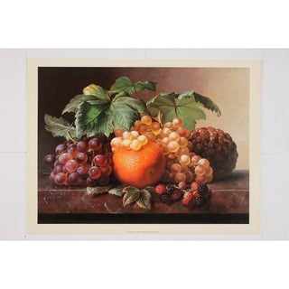 A Still Life premium Art Print of Fruit by I L Iensen