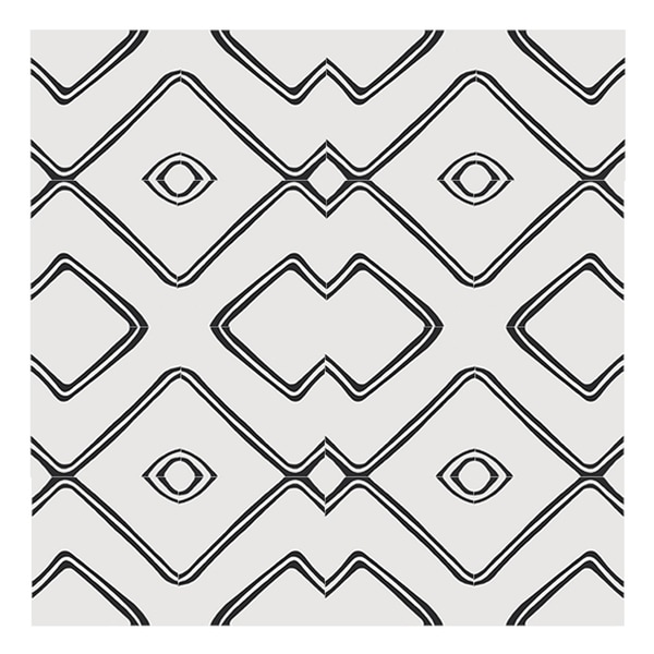 Chawen in White and Black Handmade 8x8-in Moroccan Tiles (Pack 12)