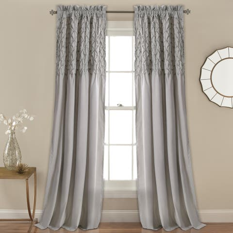 Lush Decor Bayview Window Curtain Panel Pair in Ivory (As Is Item)