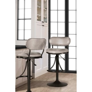 Hillsdale Furniture Athena Swivel Stool, Black , 24-30""