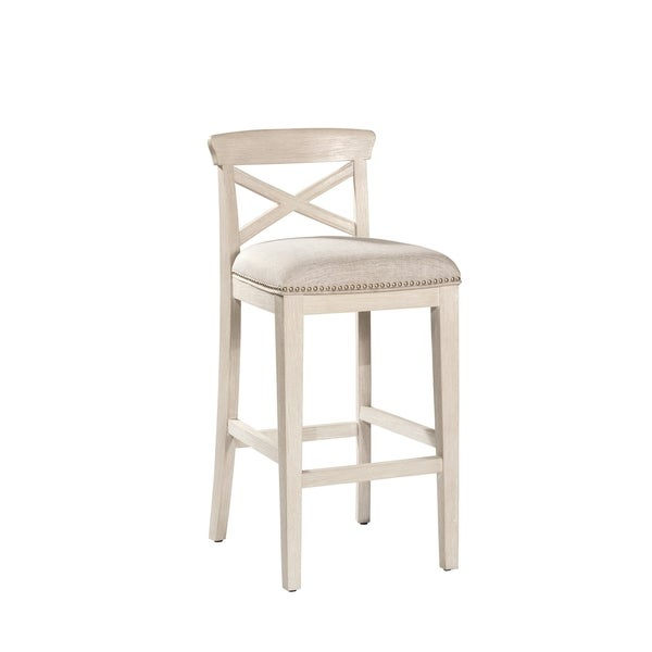 Hillsdale Furniture Bayview White Wood 30 Inch Non Swivel Bar Stools (Set  Of 2)   Free Shipping Today   Overstock.com   24024378