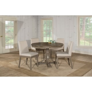 Hillsdale Furniture Clarion Five Piece Round Dining Set, Gray