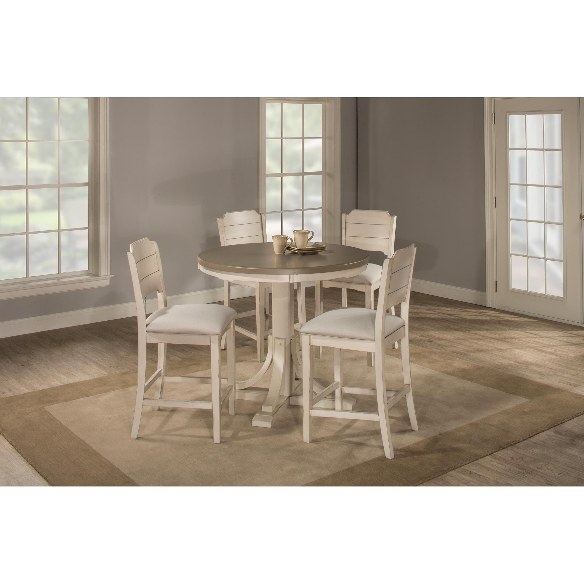 Havenside Home Santa Barbra 5-piece Round Counter Height Dining Set