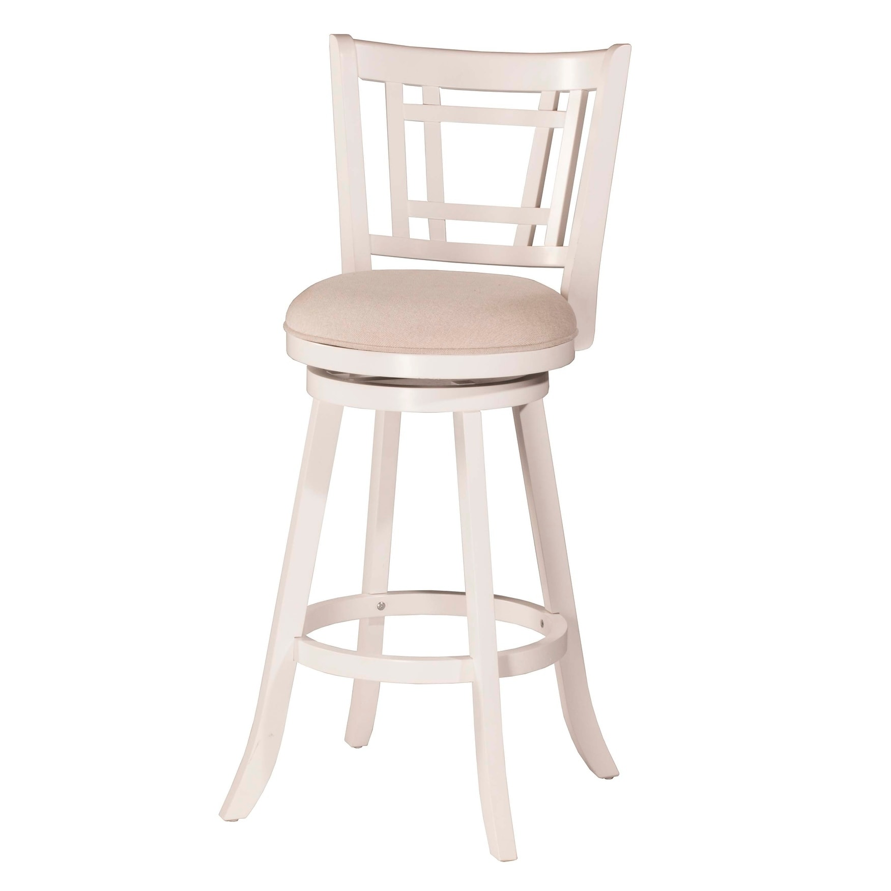 Swell Hillsdale Furniture Fairfox Swivel Counter Stool White 25 Creativecarmelina Interior Chair Design Creativecarmelinacom