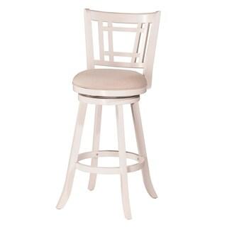 "Hillsdale Furniture Fairfox Swivel Counter Stool,  White, 25"""