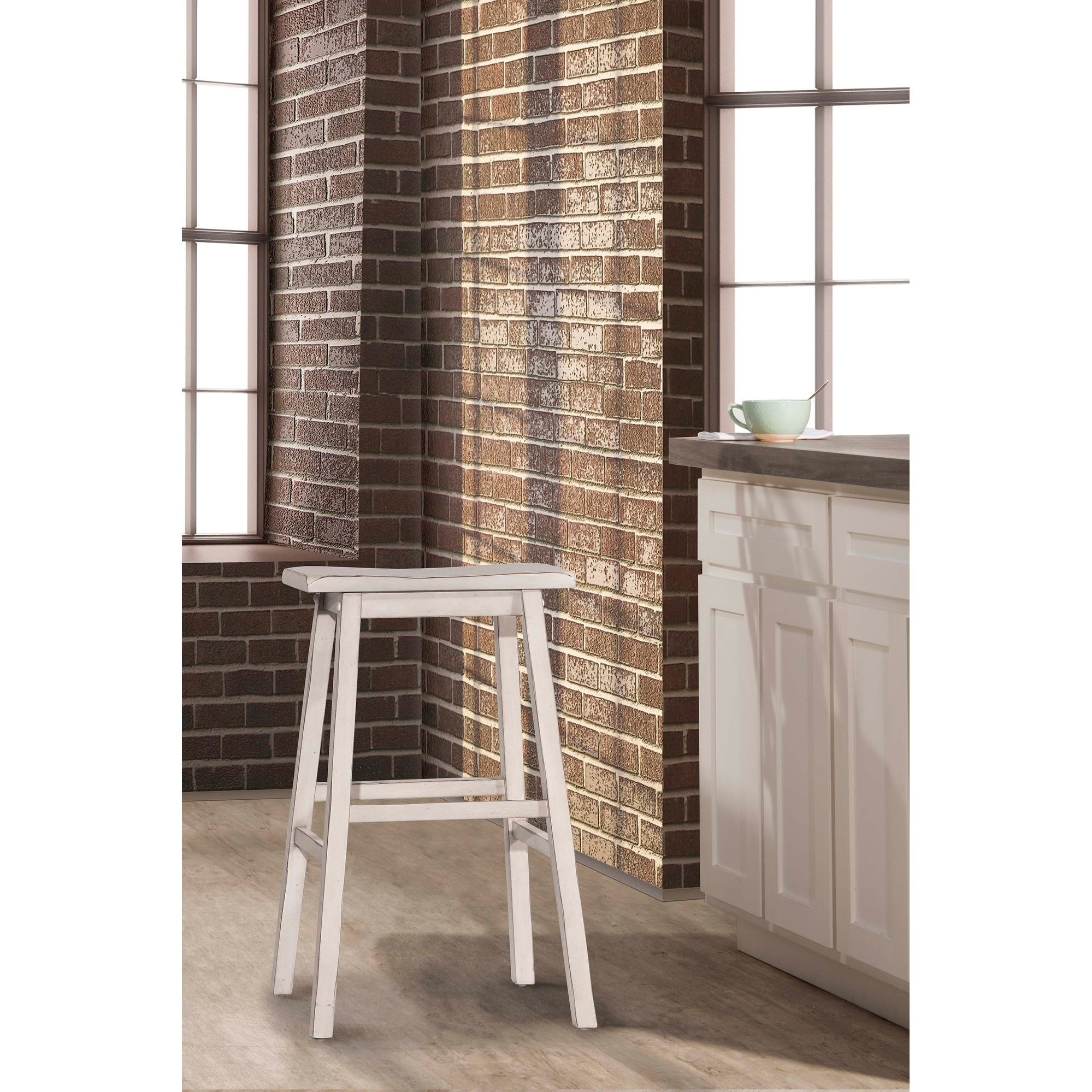 Tremendous The Gray Barn Chatterly Non Swivel Backless Bar Stool Sea White Andrewgaddart Wooden Chair Designs For Living Room Andrewgaddartcom