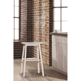 The Gray Barn Chatterly Non-swivel Backless Bar Stool, Sea White