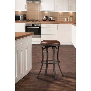 Hillsdale Furniture Kelford Swivel Backless Counter Stool, Black