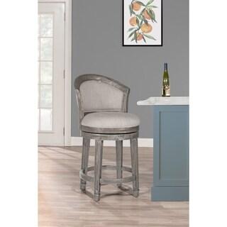 "Hillsdale Furniture Monae Swivel Counter Stool, Dark Gray, 26"""