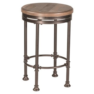 Hillsdale Casselberry Swivel Backless Counter Stool, Walnut
