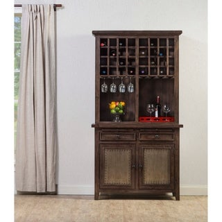 Hillsdale Furniture Tuscan Retreat Buffet and Hutch, Mocha