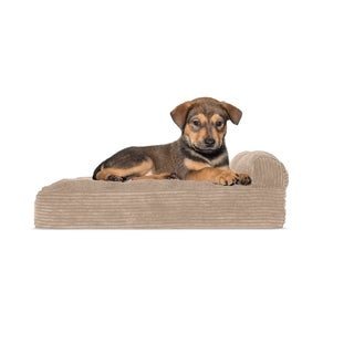 FurHaven Faux Fleece & Corduroy Chaise Lounge Orthopedic Sofa Pet Bed