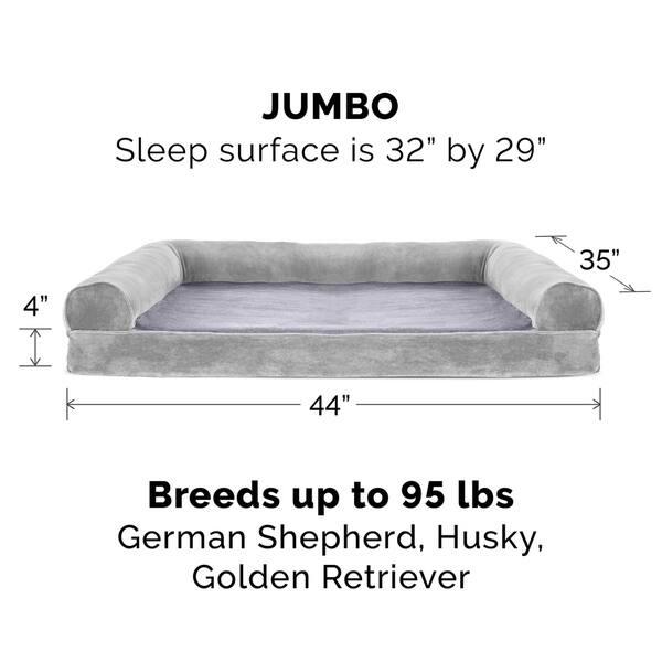 Remarkable Shop Furhaven Pet Bed Faux Fur Velvet Orthopedic Sofa Ibusinesslaw Wood Chair Design Ideas Ibusinesslaworg