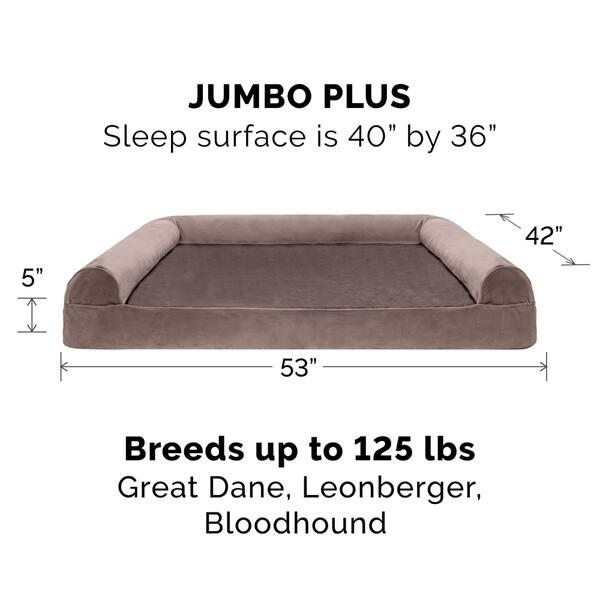 Admirable Shop Furhaven Pet Bed Faux Fur Velvet Orthopedic Sofa Ibusinesslaw Wood Chair Design Ideas Ibusinesslaworg