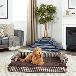 FurHaven Plush & Décor Comfy Couch Orthopedic Sofa-Style Pet Bed
