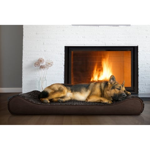 FurHaven Ultra Plush Luxe Lounger Orthopedic Pet Bed