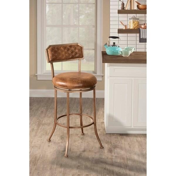 Hillsdale Furniture Grant Swivel Bar Stool, Bronze Pewter