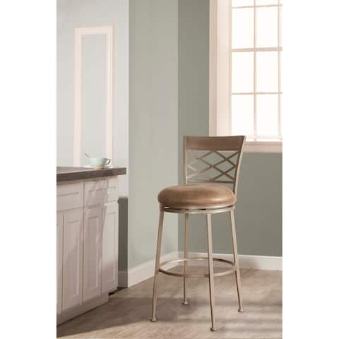 """Hillsdale Furniture Hutchinson Swivel Counter Stool, Pewter, 26"""""""