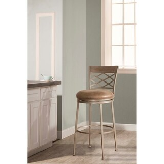 Hillsdale Furniture Hutchinson Pewter 26-inch Swivel Counter Stool